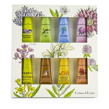 Crabtree & EvelynUltimate Hand Cream Set: Somerset + Lily + Wisteria + Rosewater + Verbena + Gardeners + Tarocco + Pomegranate 8x25g/0.9oz