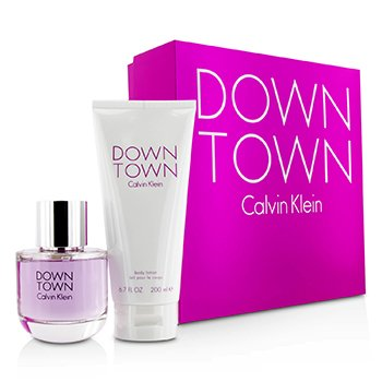 Calvin Klein Downtown Coffret: EDP Spray 90ml/3oz + Body Lotion 200ml/6.7oz (Pink Box) 2pcs