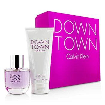 Calvin Klein Downtown Coffret: EDP Spray 90ml/3oz + Body Lotion 200ml/6.7oz (Pink Box) 2pcs