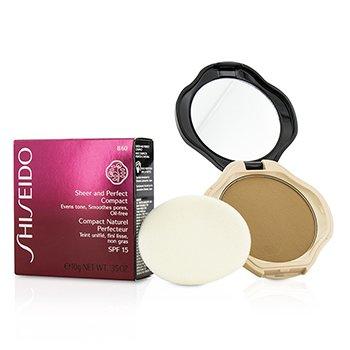 Shiseido Sheer & Perfect Base Compacta  SPF15 - #B60 Natural Deep Beige  10g/0.35oz