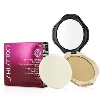 Shiseido Sheer & Perfect Compact Foundation SPF15 - #O40 Natural Fair Ochre 10g/0.35oz