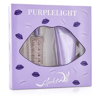 Salvador Dali Purplelight Coffret: Eau De Toilette Spray 30ml/1oz + Body Lotion 100ml/3.4oz  2pcs