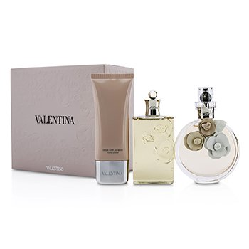 Valentino Valentina Coffret: Eau De Parfum Spray 80ml/2.7oz + Gel Ducha 100ml/3.4oz + Crema Manos 50ml/1.7oz  3pcs
