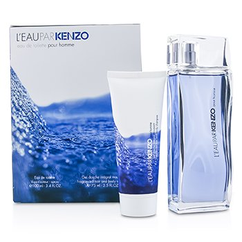 Kenzo Leau Par Kenzo Coffret: Eau De Toilette Spray 100ml/3.4oz + Hair & Body Shampoo 75ml/2.5oz 2pcs