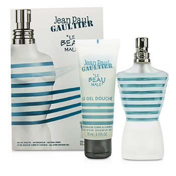 Jean Paul Gaultier Le Beau Male Coffret: Eau De Toilette Spray 75ml/2.5oz + Shower Gel 75ml/2.5oz  2pcs