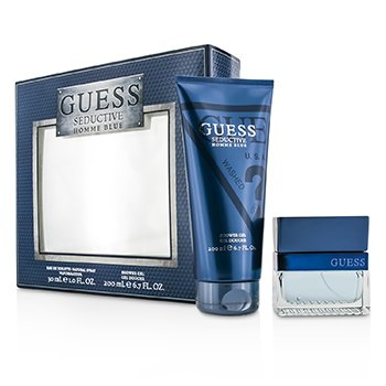 GuessSeductive Blue Coffret: Eau De Toilette Spray 30ml/1oz + Gel Ducha 200ml/6.7oz 2pcs