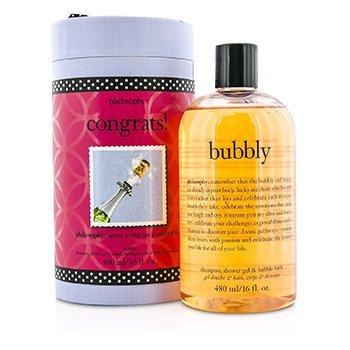 PhilosophyCongrats Bubbly Shampoo, Shower Gel & Bubble Bath 480ml/16oz