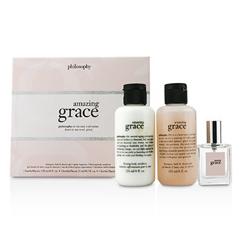 PhilosophyAmazing Grace Coffret: Eau De Toilette Spray 15ml/0.5oz + Body Emulsion 120ml/4oz + Shower Gel 120ml/4oz 3pcs