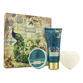 Heathcote & Ivory Enchanted Walk Hand & Body Treats: Hand Cream 100ml/3.38oz + B ladies fragrance