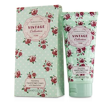 Heathcote & IvoryVintage Rose Crema Nutritiva con Manteca de Karit� para Manos & U�as 150ml/5.07oz