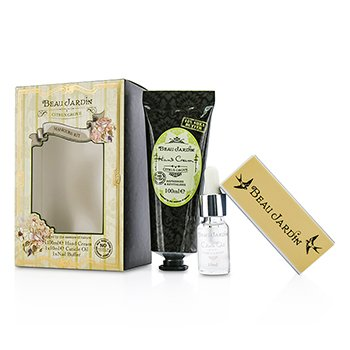 Beau Jardin Citrus Grove Manicure Coffret: Hand Cream 100ml/3.38oz + Cuticle Oil 10ml/0.33oz + Nail Buffer Heathcote & Ivory Beau Jardin Citrus Grove Manicure C