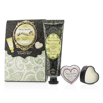 Beau Jardin Hand & Lip Set: Citrus Grove Hand Cream 75ml/2.5oz + Cocoa Butter Lip Balm 14g/0.49oz Heathcote & Ivory Beau Jardin Hand & Lip Set: Citrus Grove Han