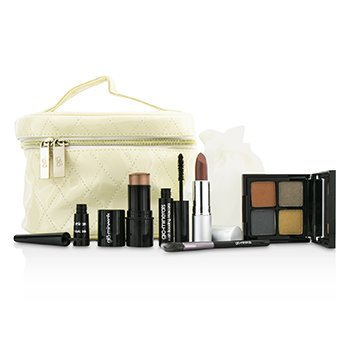 GloMineralsKeepsake Collection Train Case (Color Stick+Mini Mascara+Eye Shadow Quad+Eyeliner+Lipstick+Mini Eye Brush+Case) 6pcs+1case