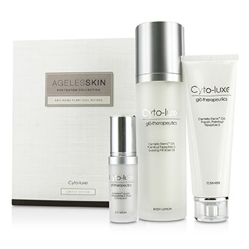 Cyto-Luxe Agelesskin Phytostem Collection: Cleanser 130ml + Eye Serum 17ml + Body Lotion 200ml Glotherapeutics Cyto-Luxe Agelesskin Phytostem Collection: Cleans