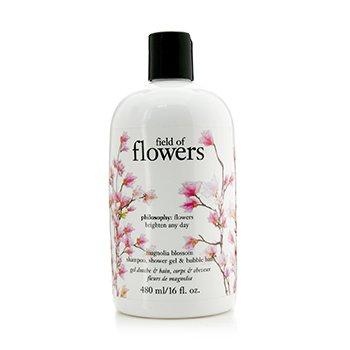 Field Of Flowers Magnolia Blossom Shampoo  Shower Gel & Bubble Bath Philosophy Field Of Flowers Magnolia Blossom Shampoo  Shower Gel & Bubble Bath 480ml/16oz