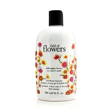 PhilosophyField Of Flowers Wildflower Blossom Shampoo, Shower Gel & Bubble Bath 480ml/16oz