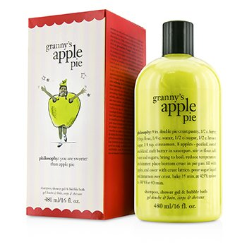 PhilosophyGranny's Apple Pie Shampoo, Shower Gel & Bubble Bath 480ml/16oz
