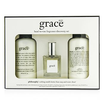 Pure Grace Coffret: Eau De Toilette Spray 15ml/0.5oz + Body Lotion 120ml/4oz + Shower Cream 120ml/4oz Philosophy Pure Grace Coffret: Eau De Toilette Spray 15ml/