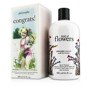 Congrats! Field Of Flowers Shampoo  Shower Gel & Bubble Bath Philosophy Congrats! Field Of Flowers Shampoo  Shower Gel & Bubble Bath 480ml/16oz