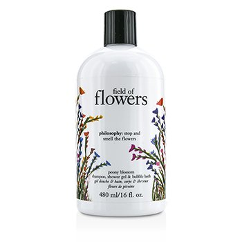 PhilosophyField Of Flowers Peony Blossom Shampoo, Shower Gel & Bubble Bath 480ml/16oz