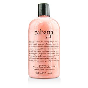 Cabana Girl Shampoo  Shower Gel & Bubble Bath Philosophy Cabana Girl Shampoo  Shower Gel & Bubble Bath 480ml/16oz