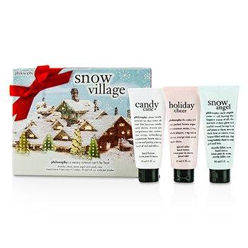 PhilosophySnow Village Hand Cream Set: Holiday Cheer Hand Cream 30ml + Snow Angel Hand Cream 30ml + Candy Cane Hand Cream 30ml 3pcs