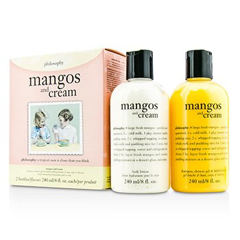 PhilosophyMangos & Cream Set: Mangos & Cream Shampoo, Shower Gel & Bubble Bath 240ml/8oz + Body Lotion 240ml/8oz 2pcs