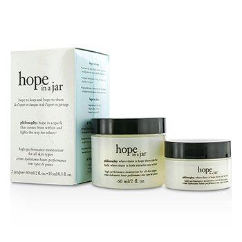 自然哲理 Philosophy Hope In a Jar Set: Hope In A Jar Moisturizer For All Skin Types 60ml/2oz & 15ml/0.5oz 2pcs
