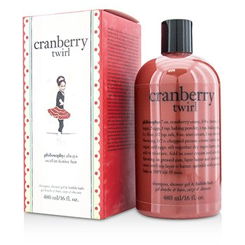 Cranberry Twirl Shampoo  Shower Gel & Bubble Bath Philosophy Cranberry Twirl Shampoo  Shower Gel & Bubble Bath 480ml/16oz