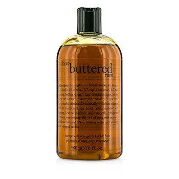 PhilosophyHot Buttered Rum Shampoo, Shower Gel & Bubble Bath 480ml/16oz