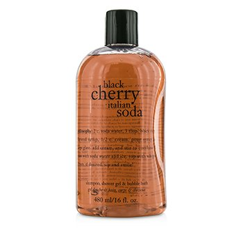 PhilosophyBlack Cherry Italian Soda Shampoo, Shower Gel & Bubble Bath 480ml/16oz