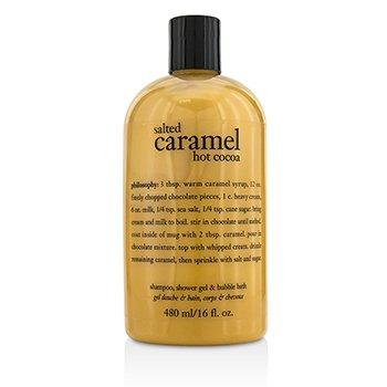 自然哲理 Philosophy Salted Caramel Hot Cocoa Shampoo  Shower Gel & Bubble Bath 480ml/16oz