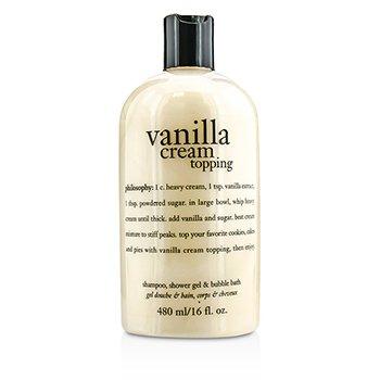 Philosophy Vanilla Cream Topping Shampoo  Shower Gel & Bubble Bath 480ml/16oz