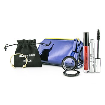 Stila New Years Eve Glam Makeup Set (1x Eyeshadow  1x Liquid Lipstick  1x Mascara  1x Bangle with Pouch  1x Clutch) –