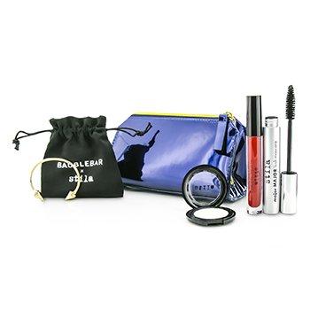 StilaSet Maquillaje New Years Eve Glam (1x Color Ojos 1x Color Labios L�quido, 1x M�scara, 1x Pulsera con Bolsa, 1x Estuche)