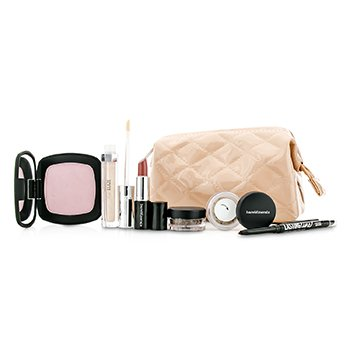 Bare EscentualsBareMinerals The Full Reveal Kit (2x Eyeshadow, 1x Eyeliner, 1x Luminizer, 1x Lipstick, 1x Bag) 6pcs+1bag