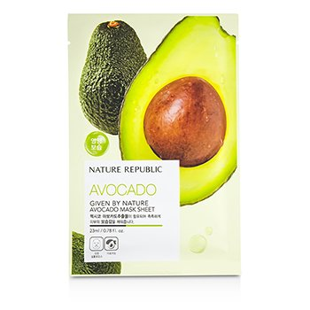 Nature Republic Given By Nature Mask Sheet - Avocado 10x23ml/0.78oz