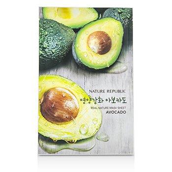 Nature Republic Real Nature Mask Sheet - Avocado 10x23ml/0.78oz