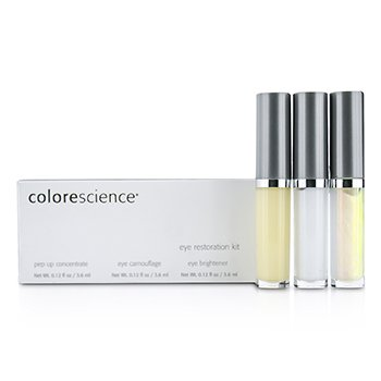 ColorescienceEye Restoration System Set: Pep Up Concentrate 3.6ml + Eye Camouflage 3.6ml + Eye Brightener 3.6ml 3pcs