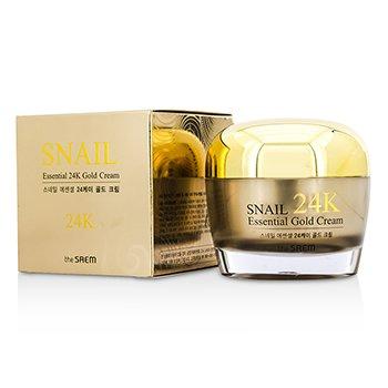 The Saem Snail Essential 24K Gold Cream 50ml/1.69oz skincare