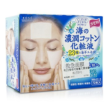 Kose Clear Turn SOS Moisturzing Cotton Pack – Marine Extracts 72pcs