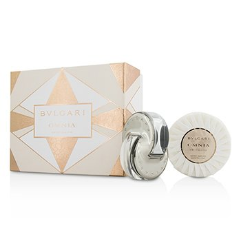BvlgariOmnia Crystalline Coffret: Eau De Toilette Spray 40ml/1.35oz + Jab�n Perfumado 150g/5.3oz 2pcs