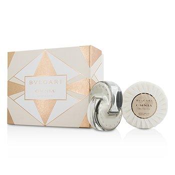 BvlgariOmnia Crystalline Coffret: Eau De Toilette Spray 40ml/1.35oz + Scented Soap 150g/5.3oz 2pcs