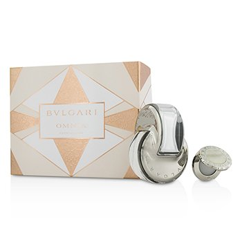 BvlgariOmnia Crystalline Coffret: Eau De Toilette Spray 65ml/2.2oz + Perfume  S�lido 1g/0.03oz 2pcs