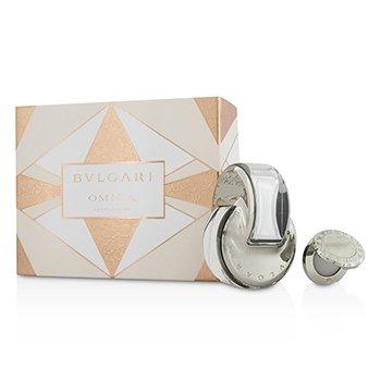 BvlgariOmnia Crystalline Coffret: Eau De Toilette Spray 65ml/2.2oz + Perfume  S�lido 1g/0.03oz 2pcs