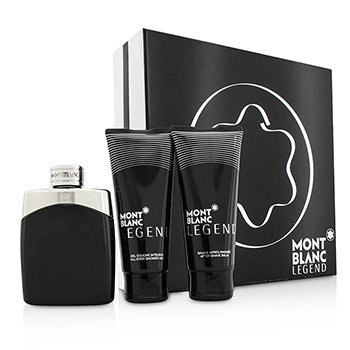 Mont Blanc Legend Coffret: Eau De Toilette Spray 100ml/3.3oz + After Shave Balm 100ml/3.3oz + All-Over Shower Gel 100ml/3.3oz  3pcs