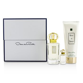 Oscar De La RentaLive In Love Coffret: Eau De Parfum Spray 50ml/1.7oz + Eau De Parfum Miniature 4ml/0.13oz + Body Lotion 100ml/3.4oz 3pcs