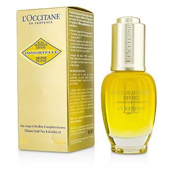 Купить Immortelle Divine Youth Oil - Омолаживающее Масло для Лица и Зоны Декольте 30ml/1oz, L'Occitane