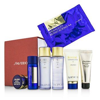 ShiseidoSet Revital: Espuma Limpiadora I + Loci�n EX I  + Humectante EX I  + Primer + Loci�n AA  + Crema AAA  + Mascarilla Ojos 1par 7pcs