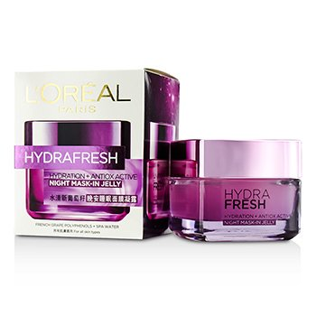 L'Oreal Hydra Fresh Hydration+ Antiox Active Mask-In Jelly  50ml/1.7oz